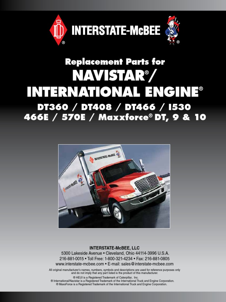 Catalogo Navistar | Piston | Cylinder (Engine)