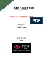 Acabados Automotrices-Proceso de Electro-recubrimiento