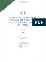 Diseño de Planta Recilcadora de Cascara de Coco