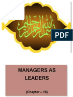 (11) Managers as Leaders