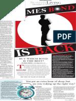 Sunday Living, Best Bond movies - The Patriot-News, Harrisburg, Pa. - Nov. 1, 2015