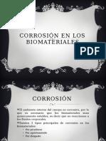 Corrosión en Los Biomateriales