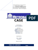 Case Analysis - Metrobank