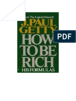 COMO HACERSE RICO J.PAUL GETTY