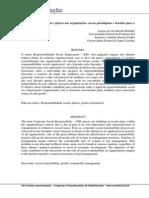Responsabilidade Social e Gênero Nas Organizações Novos Paradigmas e Desafios Para A