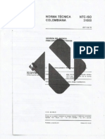 NTC ISO 31000 - Gestión de Riesgo