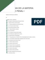 Programa de La Materia Derecho Penal i