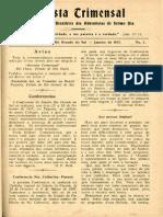 Revista Adventista - Edição de Janeiro de 1907 - p. 01 - Capa