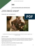 ¿Cómo Elaborar Compost_ _ Viviendo en La Tierra