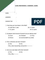 Questionnaire on Dealers Perception