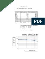 hoja de calculo granulometria