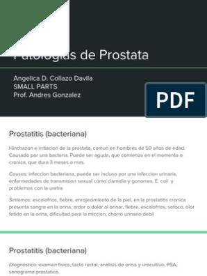psa en aumento para la prostatitis crónica el