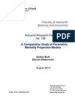 A Comparative Study of Parametric of Mortality Projection Models