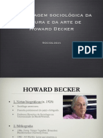 A Abordagem Sociológica Da Cultura - Becker