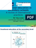 Vocational education in secondary schools