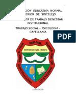 propuesta de bienestar institucional