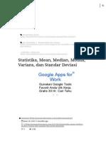 SAS Sumatera Utara _ Statistika, Mean, Median, Modus, Varians, Dan Standar Deviasi