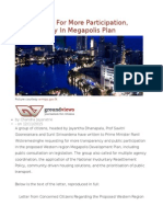 Citizens Call for More Participation, Transparency in Megapolis Plan