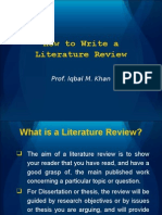 How to Write a Literature Review-05!05!2009