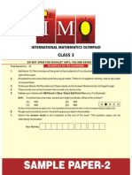 Imo Sample Paper 2 Class 3