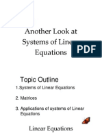 System of Linear Equation