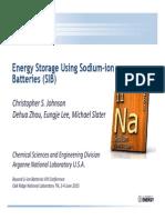 Sodium Ion Batteries