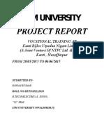 Ntpc Project Report(summer training )