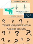 ethical dilemma debate  assisted suicide
