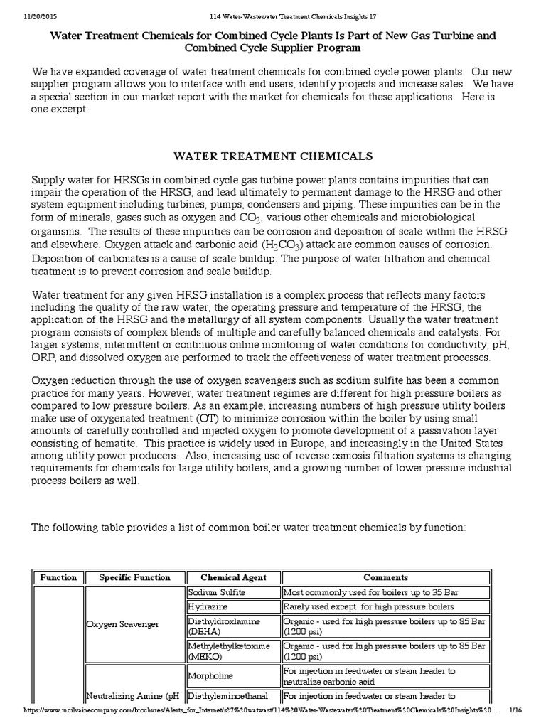Water-Wastewater Treatment Chemicals Insights 17   Liquefied