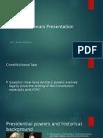 law 100 honors presentation