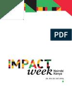 Impactweek Nairobi 2015 Dokumentation