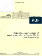 Aristóteles en Galicia. A contraportada de Santa María de Pontevedra