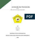 Askep Pneumotoraks Dan Hemotoraks