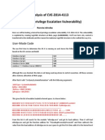 Analysis of CVE-2014-4113