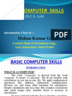 Basic Computer Skills - Tutorial by Mohan Kumar G.