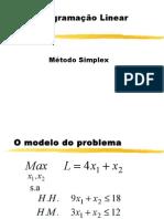 Aula 1 o Metodo Simplex