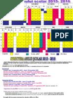 0 Structura Anului Scolar 2015 2016