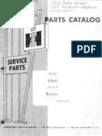 International 2500 Tractor Series B Parts Manual TC-175 - 4/1974