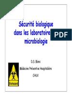 Securite Laboratoires