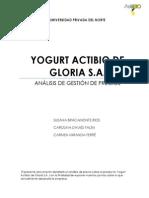 Trabajo Yogurt Actibio de Gloria