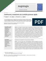 2012 - Clasificación y Tratamiento de La Embolia Pulmonar Aguda