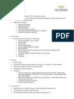 Checklist O-Ring Basics