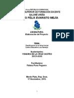 Planificacion en El Nivel Inicial Fatima Ponz Yonaira