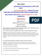 QM0022-TQM Tools and Techniques