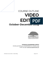 Course Outline Video Editing Fall2015