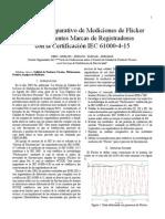 Análisis Comparativo de Mediciones de Flicker con Diferentes Marcas de Registradores con la Certificación IEC 61000-4-15