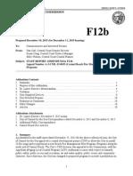 f12b-12-2015 Staff Report Addendum