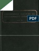 Secretariado Nacional de Liturgia - Comentarios Biblicos Al Leccionario Dominical A