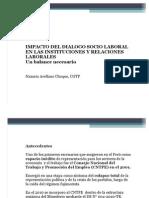 Impacto del Diálogo Socio Laboral en las instituciones y relaciones laborales.- Un balance necesario - Nazario Arellano Choque, Dpto. de Defensa Laboral CGTP.