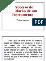 ProcessoProcesso de Validação de um Instrumento  de Validação de Um Instrumento